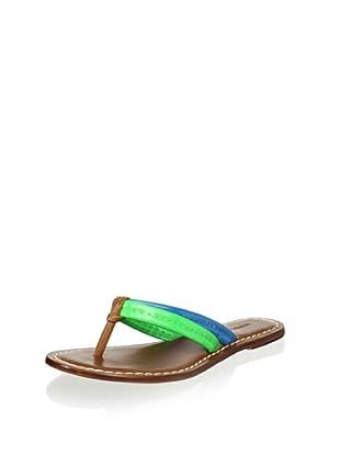 Bernardo Women's Miami Thong Sandal (Green/Blue/Pecan)