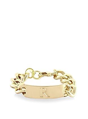 Ettika 18K Gold-Plated R Initial ID Bracelet