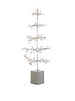 Napa Home & Garden Wonderland Ice Bead Tree, Silver Ice