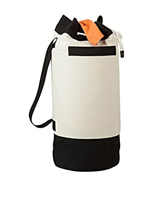 Honey-Can-Do Heavy-Duty Laundry Duffle, Black/White
