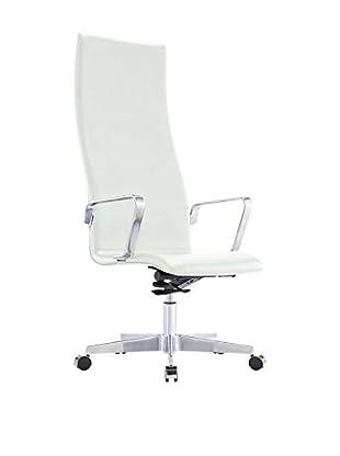 Silla Jacob Premium Piel Blanco