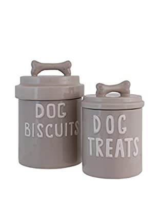 The Import Collection Set of 2 Lassie Canisters, Beige
