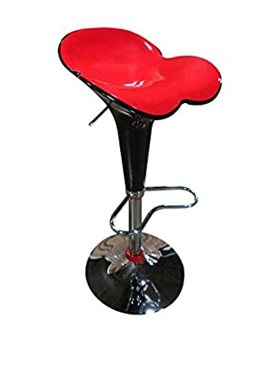 Luxury Home Contrast Bar Stool, Red/Black