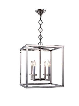 Urban Lights Jackson 2-Light Pendant Lamp, Polished Nickel
