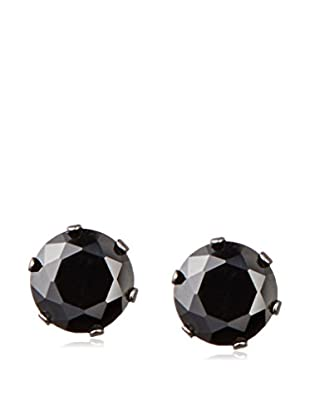 Stephen Oliver Men's Black CZ Stud Earrings