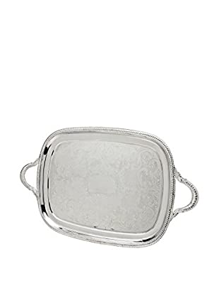 Godinger Rectangle Handled Gadroon Tray, Silver