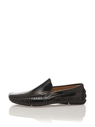 Romeo Gigli Milano Zapatos Slippers (Azul Marino)