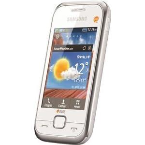 Samsung C3312 Deluxe Duos Smartphone-White