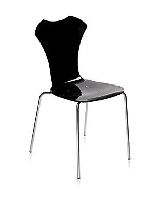 Iplex Design Stuhl 2er Set Neglige schwarz