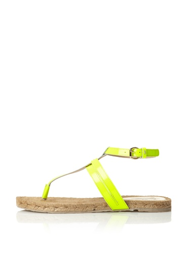 Belle by Sigerson Morrison Women's Milly Thong Sandal (Yellow Fluorescent)