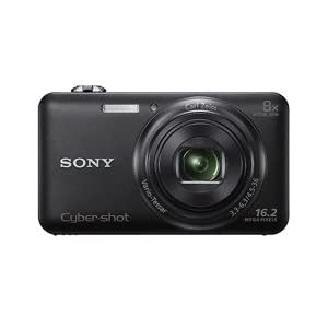 Sony DSC-WX80, black + Free 8GB Card, Camera Pouch