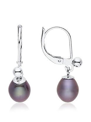Compagnie générale des perles Pendientes plata de ley 925 milésimas