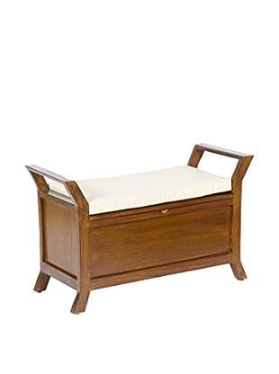 Colonial Style Sitzbank mit Stauraum braun