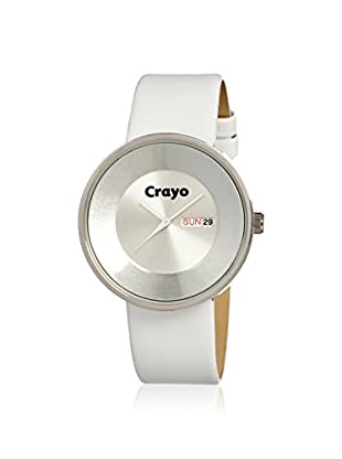 Crayo Women's CR0208 Button White Leather Watch
