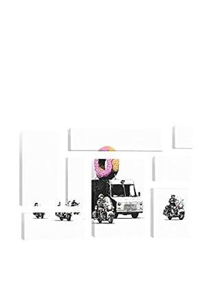 Banksy Donut Police 8-Piece Giclée On Canvas