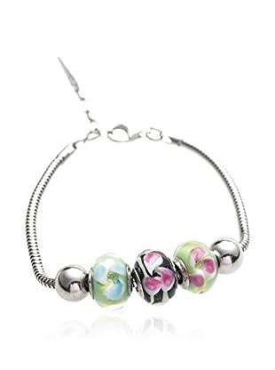 Valentina Beads by Gli Ori di Venezia Armband Valentina schwarz/rosa/silber