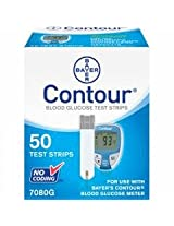 Bayer Contour Blood Glucose, 50 Test Strips
