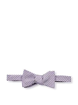 Bruno Piattelli Men's Plaid Bow Tie, Purple
