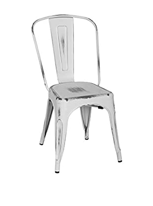 LO+DEMODA Set Silla 2 Uds. Antique Terek Vintage Blanco