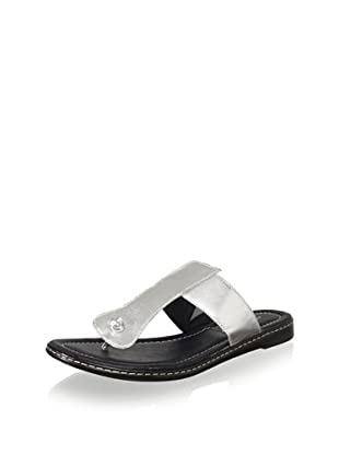 Donald J Pliner Women's Glide Flat Thong Sandal (Silver)