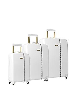 Nine West Noelle 3-Piece Hardside Luggage Set, White