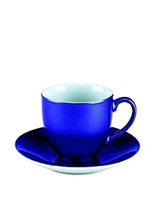 Tognana  Kaffeetasse mit Untertasse 6er Set Bellavis signalblau