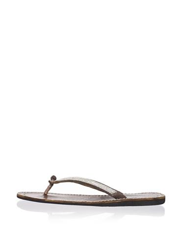 Laidback London Women's Cheney Sandal (Silver)