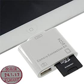【EC-MART】-iPad/iPad2/ipad3 用 2in1 コネクションキット (SDカードリーダー/USBポート)