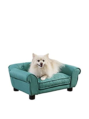 Enchanted Home Pet Sydney Linen Tufted Pet Sofa, Teal