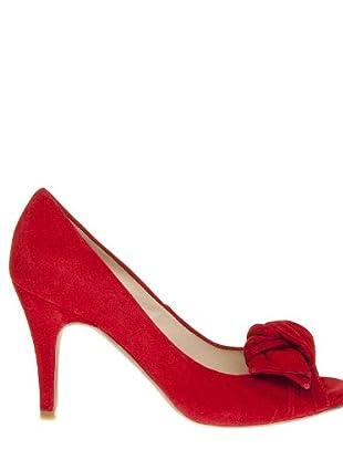 Paco Herrero Zapatos Peep Toe (Rojo)