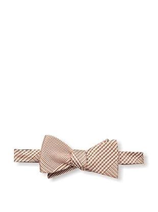 Bruno Piattelli Men's Plaid Bow Tie, Rust
