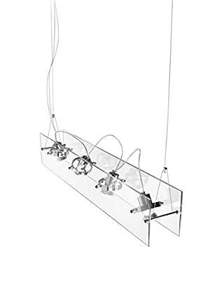 Linea Light  Lámpara De Suspensión Orbis 4 Cristal/Plateado