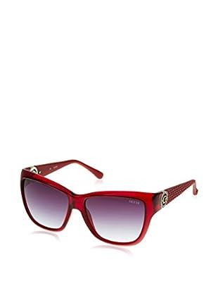 Guess Occhiali da sole GU7374 (57 mm) Rosso Scuro