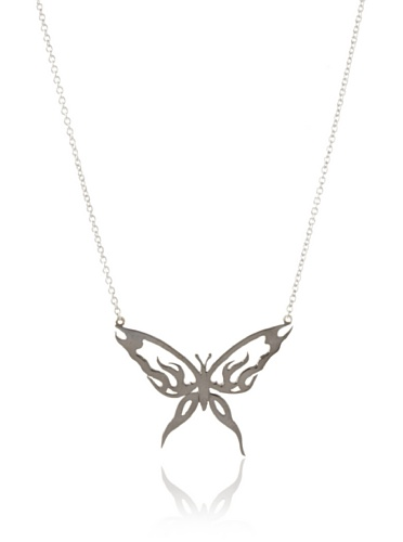 Catherine Angiel Butterfly Pendant Necklace
