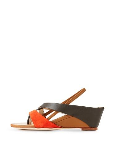 Farylrobin Women's Mina Wedge Sandal (Fiamma)