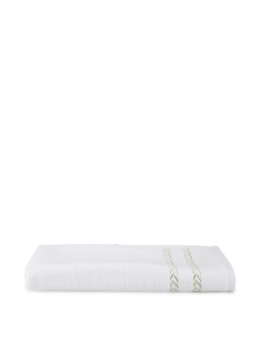Lenox Pearl Essence Hand Towel (White/Pistachio)