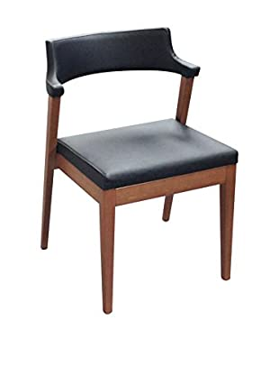 Domitalia Lyra Chair, Black Leather