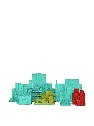 Uptown Down Vintage 8-Piece Cityscape Sculpture Set