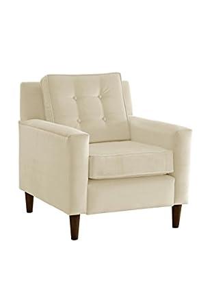 Skyline Velvet Armchair, White