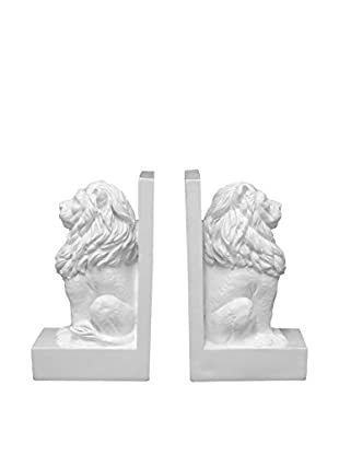 Three Hands Set Of 2 Resin Lion Bookends