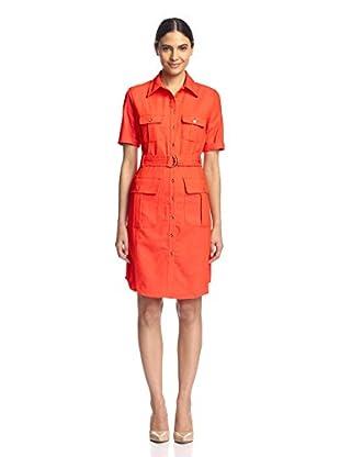 Sharagano Women's Belted Shirt Dress