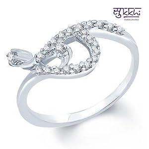 Rings - Sukkhi Rodium plated CZ Studded Ring