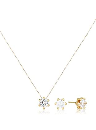 GOLD & DIAMONDS Set Collier und Ohrringe  18 Karat (750) Gelbgold