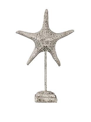 Privilege International Large Grey Ceramic Starfish On Stand