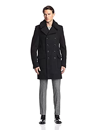 The Kooples Men's Military-Style Coat with Detachable Collar