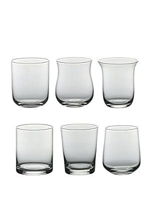 Bitossi Home  Vaso 6 Piezas Tumbler Clear Transparente