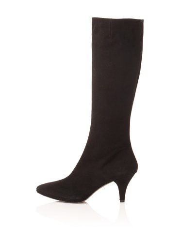 Pura Lopez Women's Suede Knee Boot (Black)