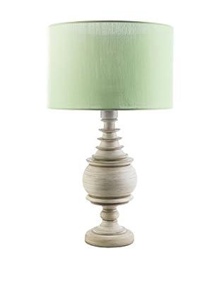 Surya Acacia Outdoor Table Lamp, Green/Antique White