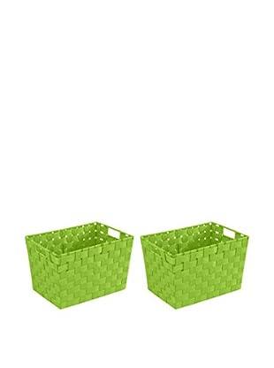 Wenko Aufbewahrungskorb 2er Set grün 35 x 20 x 25