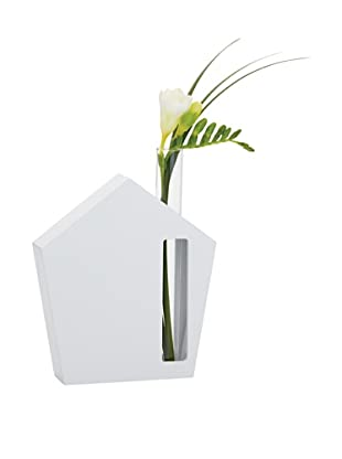 Torre & Tagus House Glass Tube Bud Vase, White